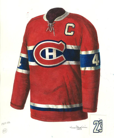 Montreal Canadiens 1965-66 - Heritage Sports Art - original watercolor artwork - 1
