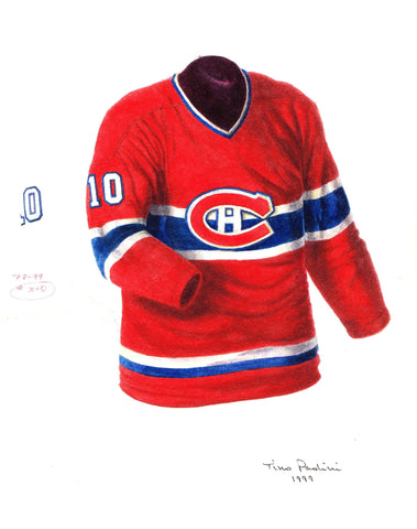 Montreal Canadiens 1978-79 - Heritage Sports Art - original watercolor artwork - 1