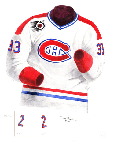 Montreal Canadiens 1991-92 - Heritage Sports Art - original watercolor artwork - 1