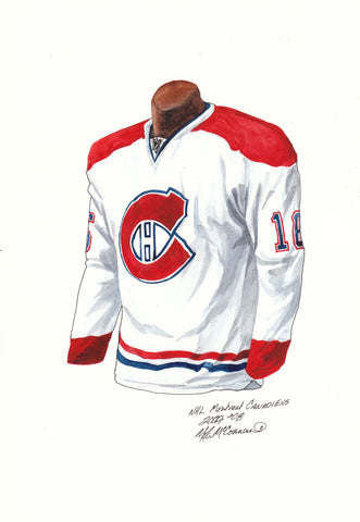 Montreal Canadiens 2007-08 - Heritage Sports Art - original watercolor artwork - 1