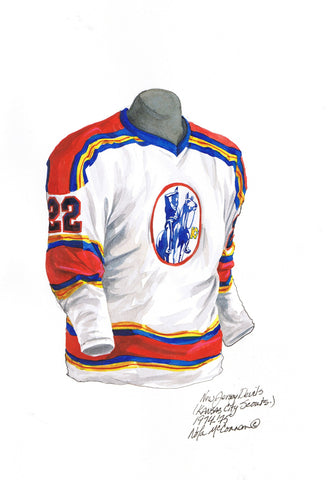 New Jersey Devils 1974-75 - Heritage Sports Art - original watercolor artwork - 1