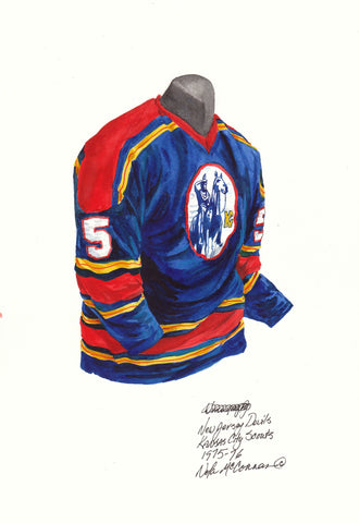 New Jersey Devils 1975-76 - Heritage Sports Art - original watercolor artwork - 1