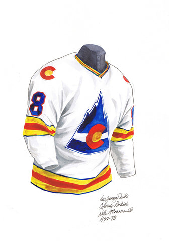 New Jersey Devils 1977-78 - Heritage Sports Art - original watercolor artwork - 1
