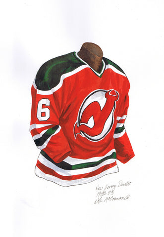 New Jersey Devils 1982-83 - Heritage Sports Art - original watercolor artwork - 1