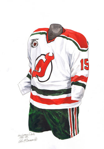 New Jersey Devils 1991-92 - Heritage Sports Art - original watercolor artwork - 1