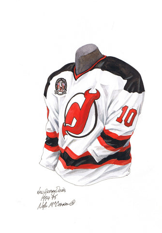 New Jersey Devils 1994-95 - Heritage Sports Art - original watercolor artwork - 1