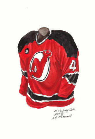 New Jersey Devils 2005-06 - Heritage Sports Art - original watercolor artwork - 1