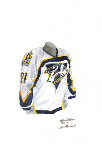 Nashville Predators 1998-99 - Heritage Sports Art - original watercolor artwork - 1