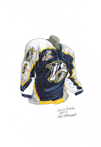 Nashville Predators 2002-03 - Heritage Sports Art - original watercolor artwork - 1
