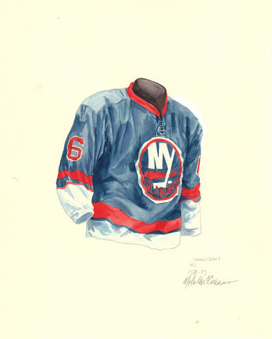 New York Islanders 1972-73 - Heritage Sports Art - original watercolor artwork - 1
