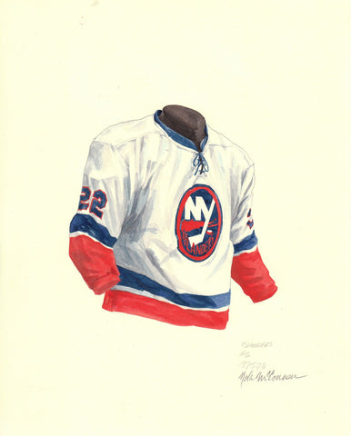 New York Islanders 1975-76 - Heritage Sports Art - original watercolor artwork - 1