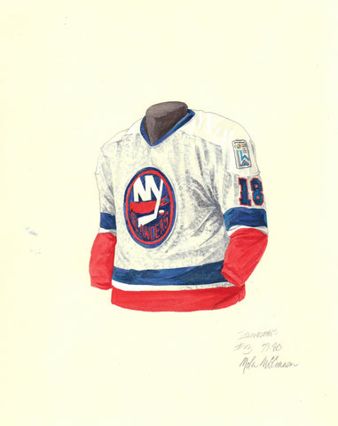 New York Islanders 1979-80 - Heritage Sports Art - original watercolor artwork - 1