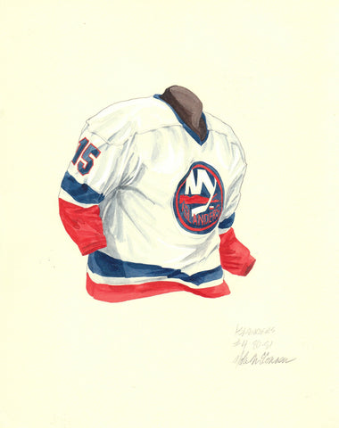 New York Islanders 1980-81 - Heritage Sports Art - original watercolor artwork - 1