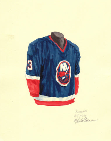 New York Islanders 1981-82 - Heritage Sports Art - original watercolor artwork - 1
