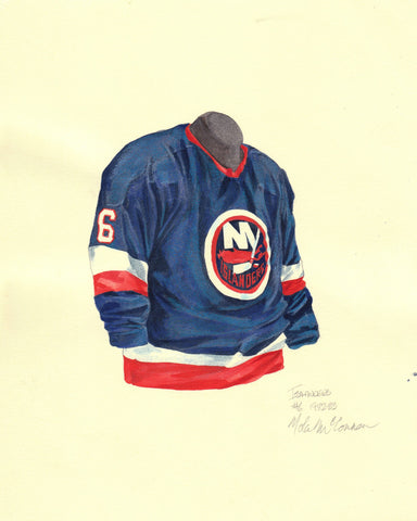 New York Islanders 1982-83 - Heritage Sports Art - original watercolor artwork - 1