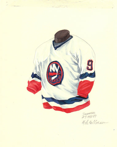 New York Islanders 1988-89 - Heritage Sports Art - original watercolor artwork - 1