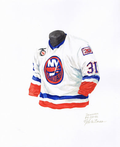 New York Islanders 1991-92 - Heritage Sports Art - original watercolor artwork - 1
