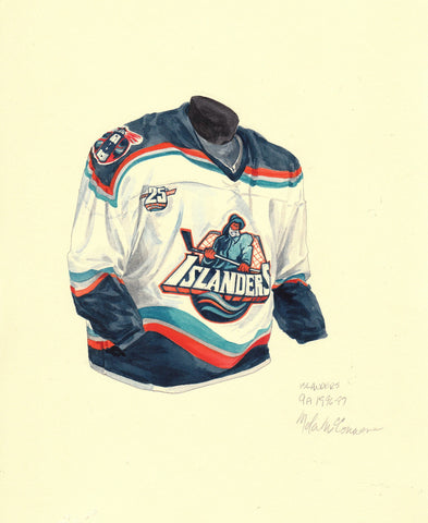 New York Islanders 1996-97 - Heritage Sports Art - original watercolor artwork - 1