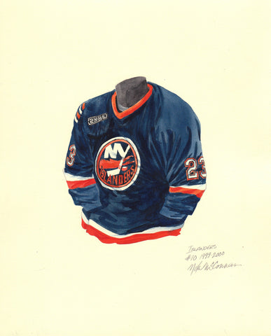 New York Islanders 1999-2000 - Heritage Sports Art - original watercolor artwork - 1