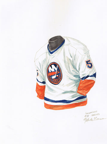 New York Islanders 2002-03 - Heritage Sports Art - original watercolor artwork - 1