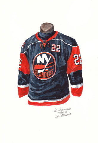 New York Islanders 2007-08 - Heritage Sports Art - original watercolor artwork - 1