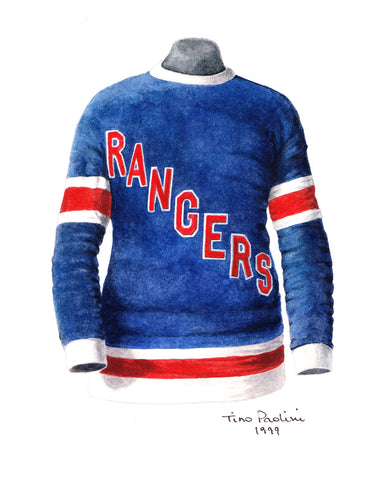 New York Rangers 1927-28 - Heritage Sports Art - original watercolor artwork - 1