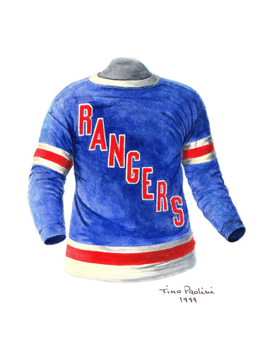 New York Rangers 1932-33 - Heritage Sports Art - original watercolor artwork - 1