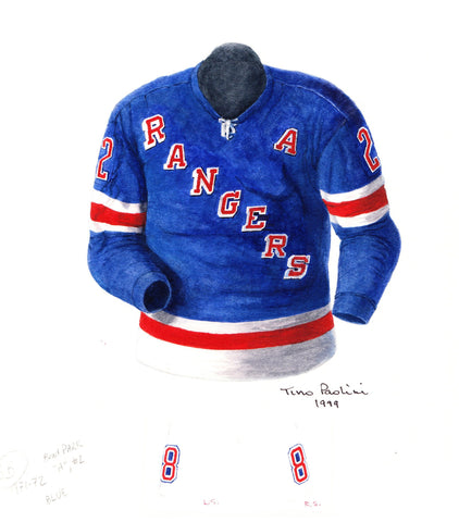 New York Rangers 1971-72 - Heritage Sports Art - original watercolor artwork - 1