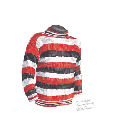 Ottawa Senators 1904-05 - Heritage Sports Art - original watercolor artwork - 1