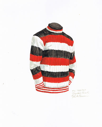 Ottawa Senators 1908-09 - Heritage Sports Art - original watercolor artwork - 1