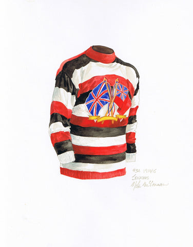 Ottawa Senators 1914-15 - Heritage Sports Art - original watercolor artwork - 1