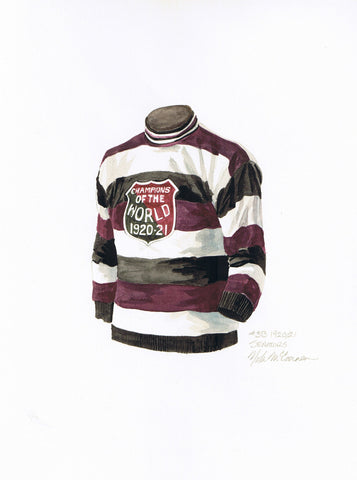 Ottawa Senators 1921-22 - Heritage Sports Art - original watercolor artwork - 1