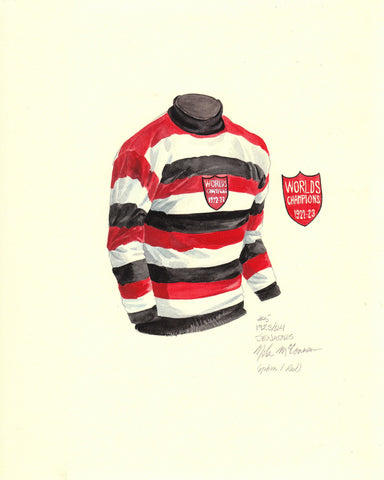 Ottawa Senators 1923-24 - Heritage Sports Art - original watercolor artwork - 1