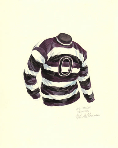 Ottawa Senators 1932-33 - Heritage Sports Art - original watercolor artwork - 1