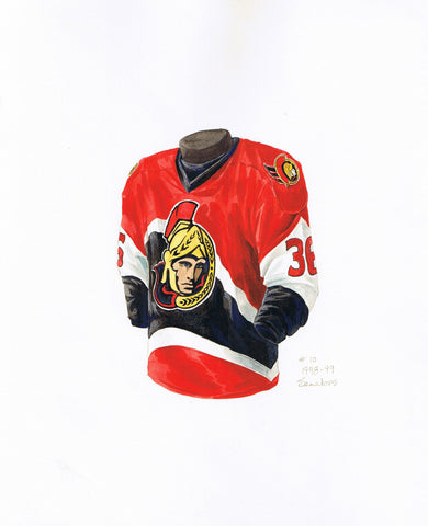 Ottawa Senators 1998-99 - Heritage Sports Art - original watercolor artwork - 1