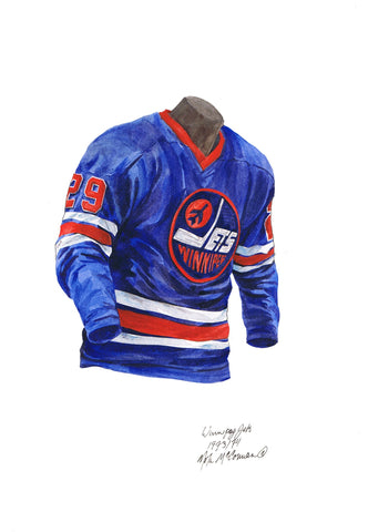Winnipeg Jets 1973-74 - Heritage Sports Art - original watercolor artwork - 1