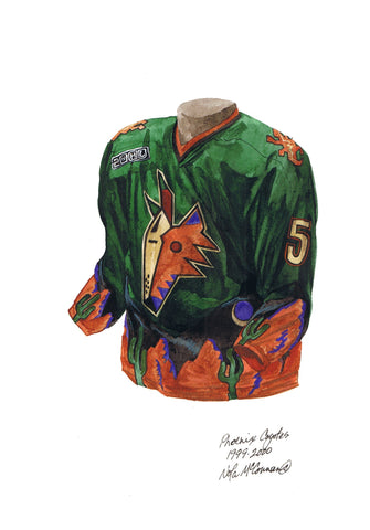 Arizona Coyotes 1999-2000 - Heritage Sports Art - original watercolor artwork - 1