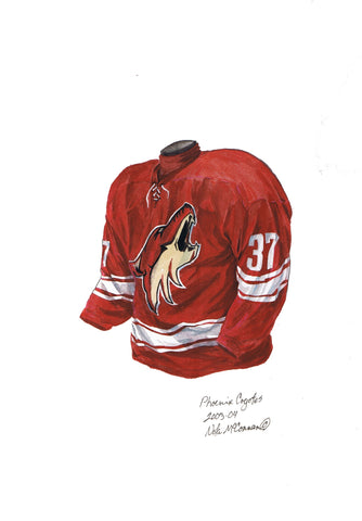 Arizona Coyotes 2003-04 - Heritage Sports Art - original watercolor artwork - 1