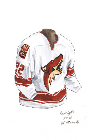 Arizona Coyotes 2005-06 - Heritage Sports Art - original watercolor artwork - 1