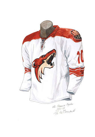 Arizona Coyotes 2007-08 - Heritage Sports Art - original watercolor artwork - 1