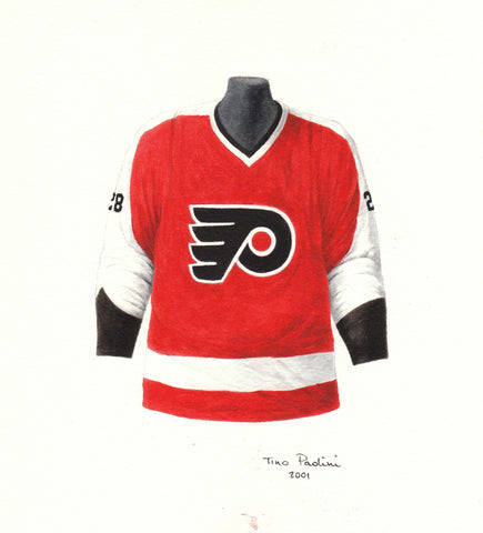 Philadelphia Flyers 1968-69 - Heritage Sports Art - original watercolor artwork - 1