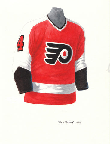 Philadelphia Flyers 1974-75 - Heritage Sports Art - original watercolor artwork - 1