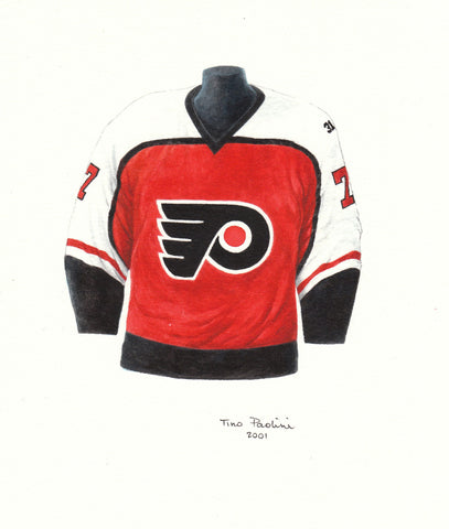 Philadelphia Flyers 1985-86 - Heritage Sports Art - original watercolor artwork - 1