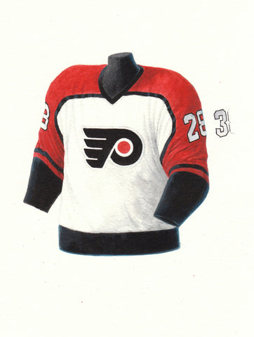 Philadelphia Flyers 1986-87 - Heritage Sports Art - original watercolor artwork - 1