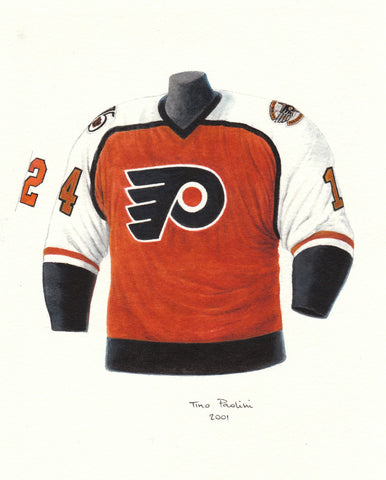 Philadelphia Flyers 1991-92 - Heritage Sports Art - original watercolor artwork - 1