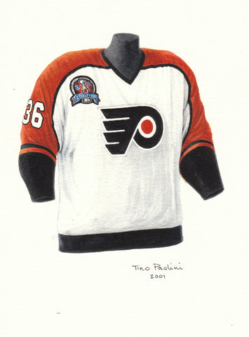 Philadelphia Flyers 1996-97 - Heritage Sports Art - original watercolor artwork - 1