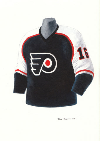 Philadelphia Flyers 1999-2000 - Heritage Sports Art - original watercolor artwork - 1