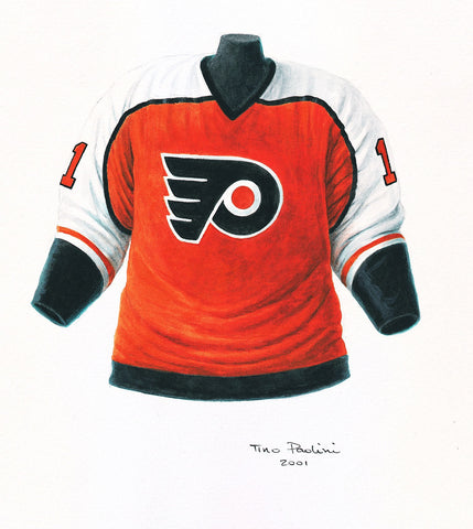 Philadelphia Flyers 2000-01 - Heritage Sports Art - original watercolor artwork - 1