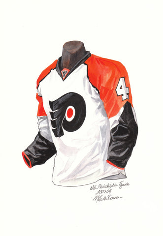 Philadelphia Flyers 2007-08 - Heritage Sports Art - original watercolor artwork - 1