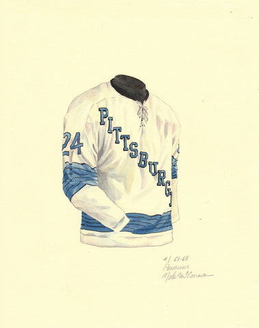 Pittsburgh Penguins 1967-68 - Heritage Sports Art - original watercolor artwork - 1